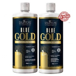 Salvatore Blue Gold Progressiva sem Formol Kit 2x500ml.+Brinde